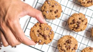 LuckyFit Vegan Protein Quinoa Chocolate Chip Cookies