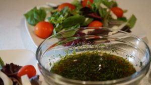 Hemp Oil Dressing with Pomegranate Vinegar and Mint