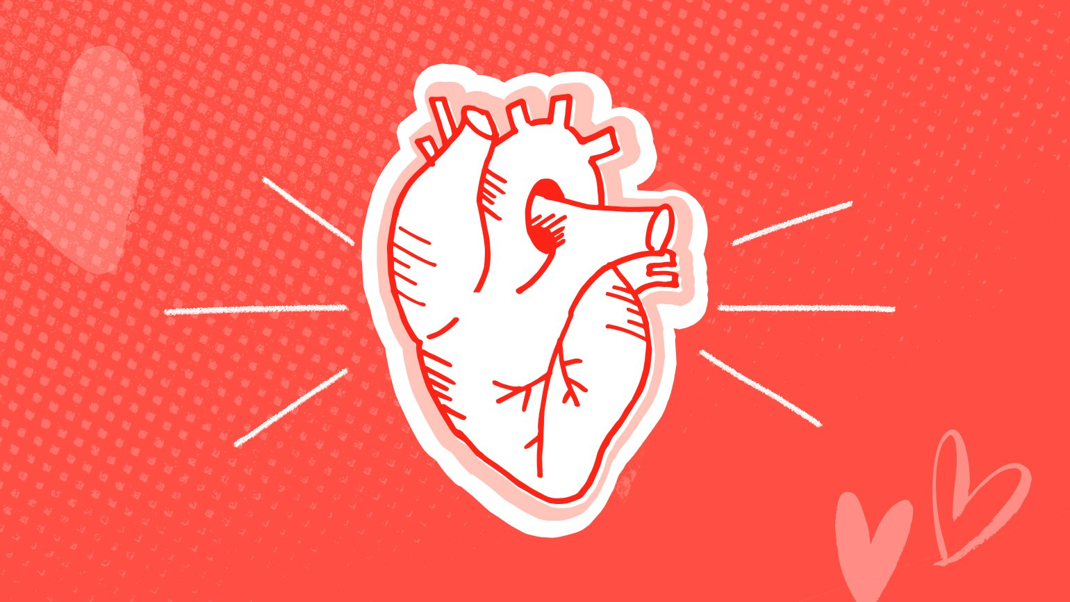 Tips for heart health image of an illustrated robust healthy heart