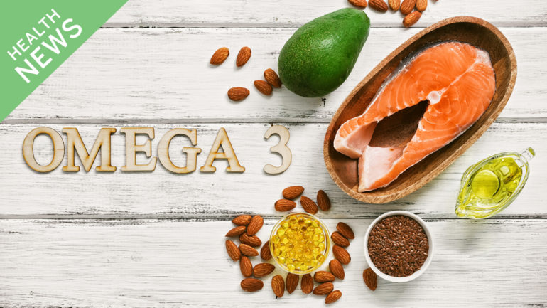 Health news image showing the variety of forms of omega-3's such as supplements and foods